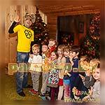 Аниматор Барбоскин фотографируется с детьми