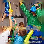 Аниматор Бравл Старс Леон с воздушными шариками