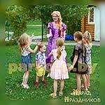 Аниматор Рапунцель знакомится с детьми
