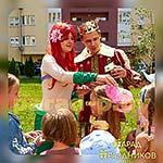 Аниматоры Русалочка и Принц поздравляют именинницу