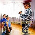Аниматор Военный на детской вечеринке