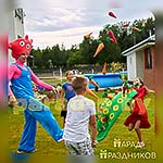 Аниматор Свинка Джордж на семейном празднике