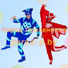 Герои в масках Кэтбой и Алетт аниматоры на детский праздник Минск